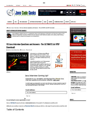 115 Java Interview Questions and Answers - The ULTIMATE Listpdf