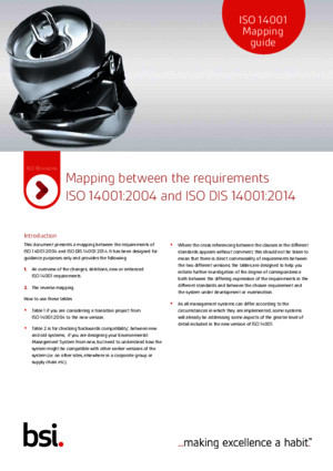 ISO 14001 Mapping Guide 2015