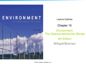 © 2011 Pearson Education, Inc Lecture Outlines Chapter 12 Environment: The Science behind the Stories 4th Edition Withgott/Brennan